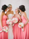 For Less Sweetheart Chiffon Floor-length Ruffles Empire Bridesmaid Dresses #DOB01012762