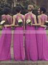 Newest Scoop Neck Chiffon Beading A-line Open Back Bridesmaid Dresses #DOB01012764