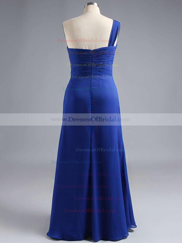 Coolest Chiffon Ankle-length Split Front One Shoulder Bridesmaid Dress #DOB01012769