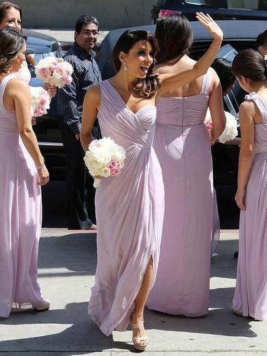 Coolest Chiffon Ankle-length Split Front One Shoulder Bridesmaid Dress #DOB01012769