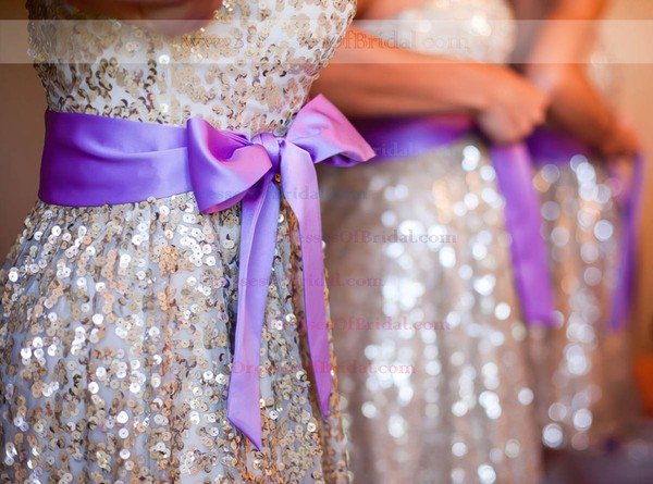 Amazing Sequined Sashes / Ribbons Sweetheart Short/Mini Bridesmaid Dress #DOB01012775