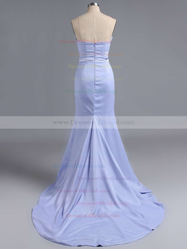 Spring Sweetheart Silk-like Satin Appliques Lace Sheath/Column Bridesmaid Dress #DOB01012786