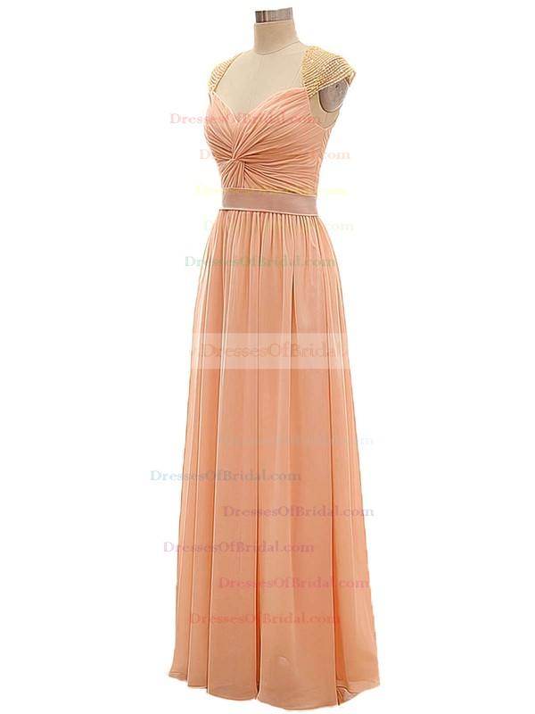 Discounted V-neck Chiffon Criss Cross A-line Long Bridesmaid Dresses #DOB01012802