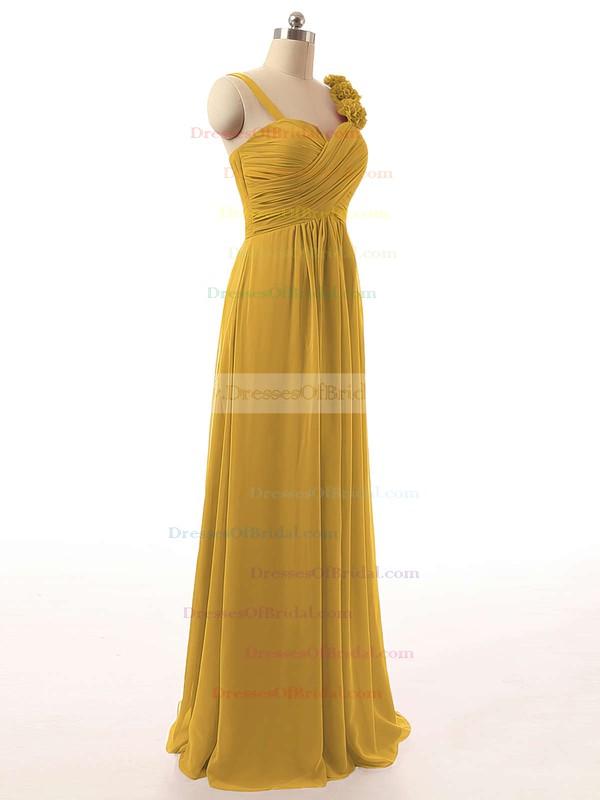 A-line Burgundy Sweetheart Chiffon Ruffles Newest Bridesmaid Dresses #DOB01012808