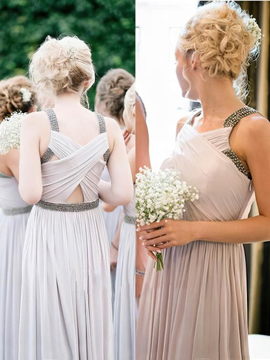 Floor-length A-line Chiffon with Beading Coolest Bridesmaid Dresses #DOB01012814
