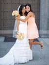 Good Sweetheart Chiffon Short/Mini Ruffles Pink Bridesmaid Dresses #DOB01012821