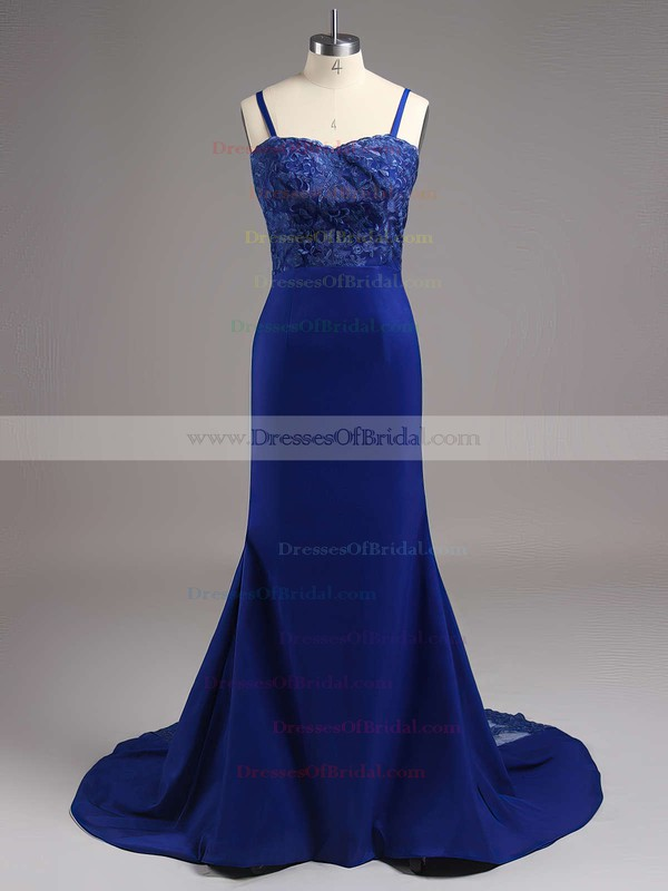 Sweetheart Silk-like Satin Appliques Lace Latest Trumpet/Mermaid Bridesmaid Dresses #DOB01012822