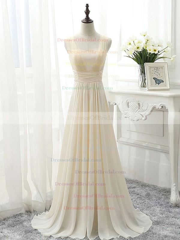 Famous Sweetheart Chiffon Sweep Train Ruffles Sage Bridesmaid Dress #DOB01012826