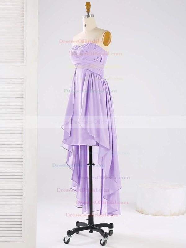 Asymmetrical Sweetheart Chiffon Ruffles Elegant High Low Bridesmaid Dresses #DOB01012863