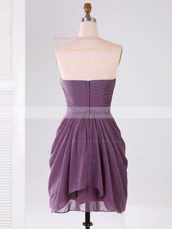 Modest Sweetheart Chiffon Ruffles Short/Mini Bridesmaid Dresses #DOB01012865