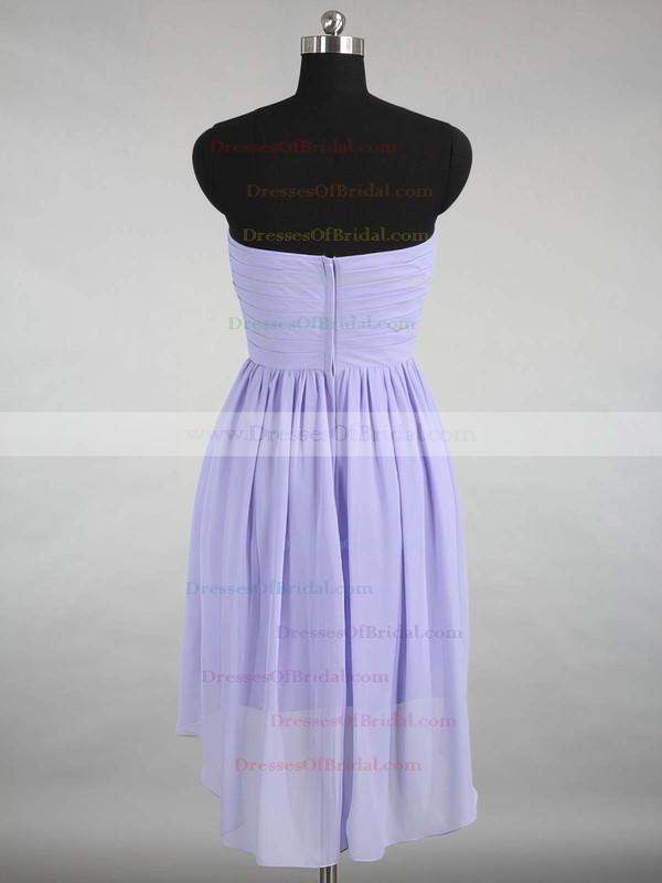 Inexpensive Sweetheart Chiffon Ruffles Asymmetrical Bridesmaid Dresses #DOB01012870