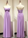 Sweetheart Chiffon Criss Cross Sexy Lavender Empire Bridesmaid Dresses #DOB01012872