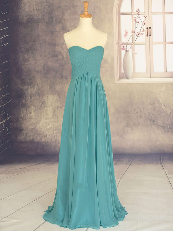 Discount Sweetheart Chiffon Ruffles Sweep Train Bridesmaid Dresses #DOB01012878