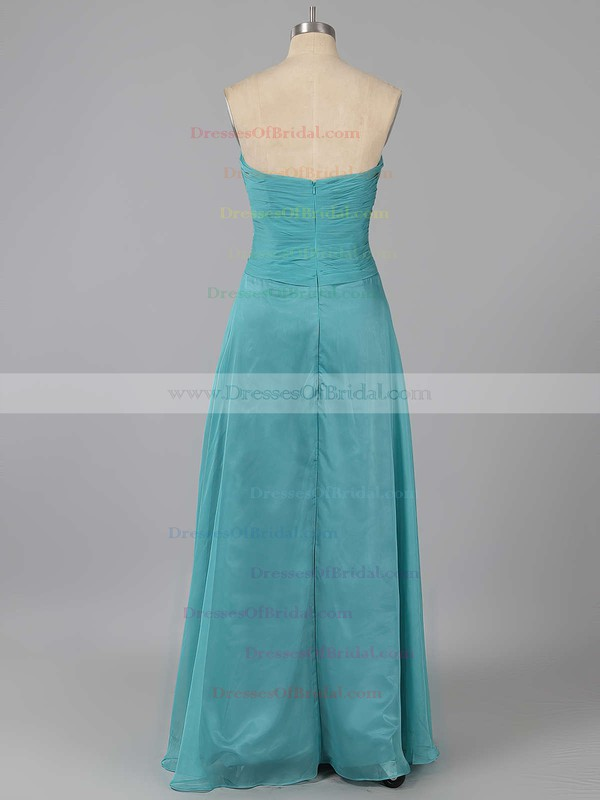 Discount Sweetheart Chiffon Ruffles Sweep Train Bridesmaid Dresses #DOB01012878