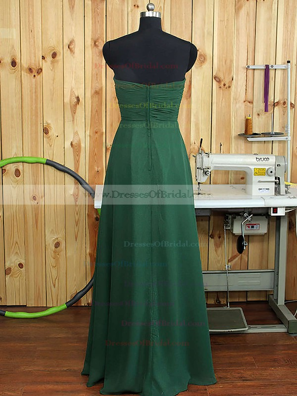 Sweetheart Chiffon Ruffles A-line Amazing Dark Green Bridesmaid Dress #DOB01012894
