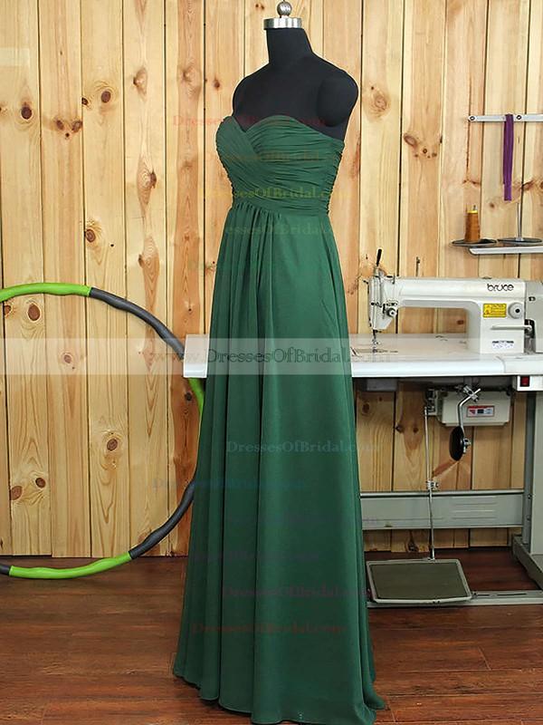 Sweetheart Chiffon Ruffles A-line Amazing Dark Green Bridesmaid Dress #DOB01012894