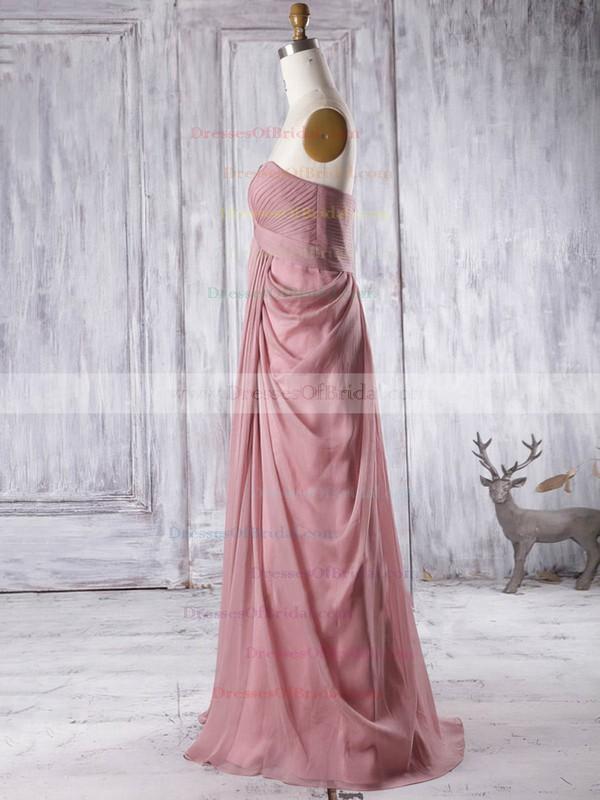 Empire Sweetheart Chiffon Floor-length Ruffles Fashion Bridesmaid Dresses #DOB01012933