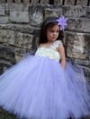 Classy Empire Tulle with Flower(s) Floor-length One Shoulder Flower Girl Dresses #DOB01031908