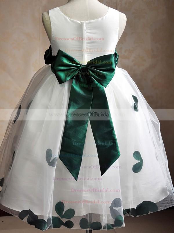 Scoop Neck Tulle Floor-length Sashes / Ribbons Original Ball Gown Flower Girl Dresses #DOB01031935