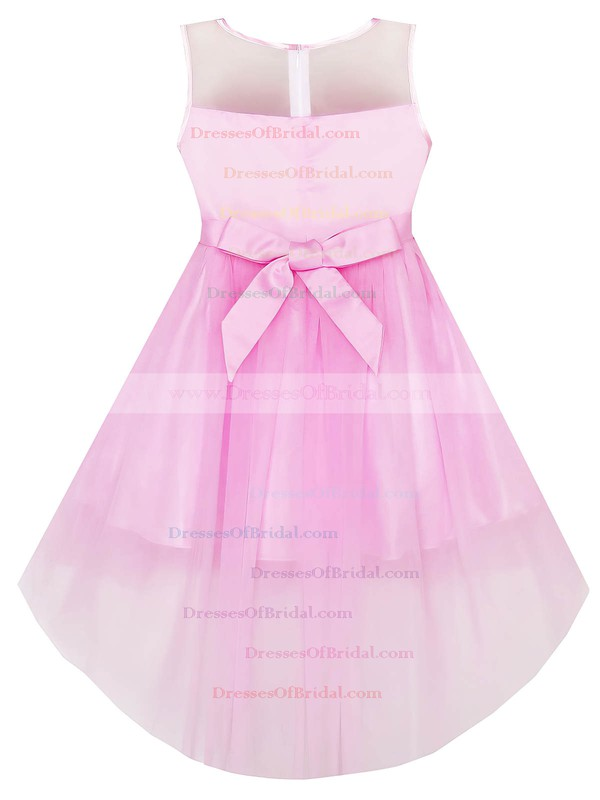 Asymmetrical A-line Scoop Neck Tulle with Bow New Arrival Flower Girl Dresses #DOB01031941
