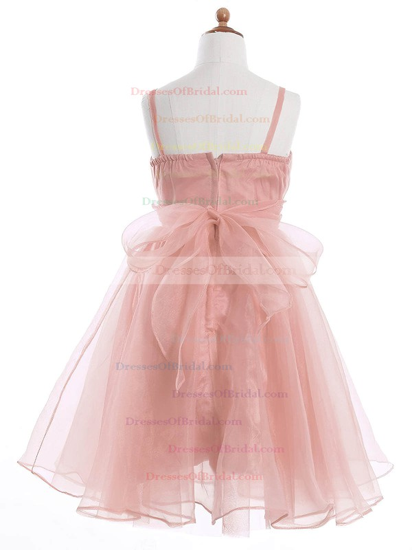 Perfect A-line Sweetheart Organza Sashes / Ribbons Ankle-length Flower Girl Dresses #DOB01031942