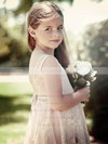 Promotion A-line Scoop Neck Lace Sashes / Ribbons Knee-length Flower Girl Dresses #DOB01031949