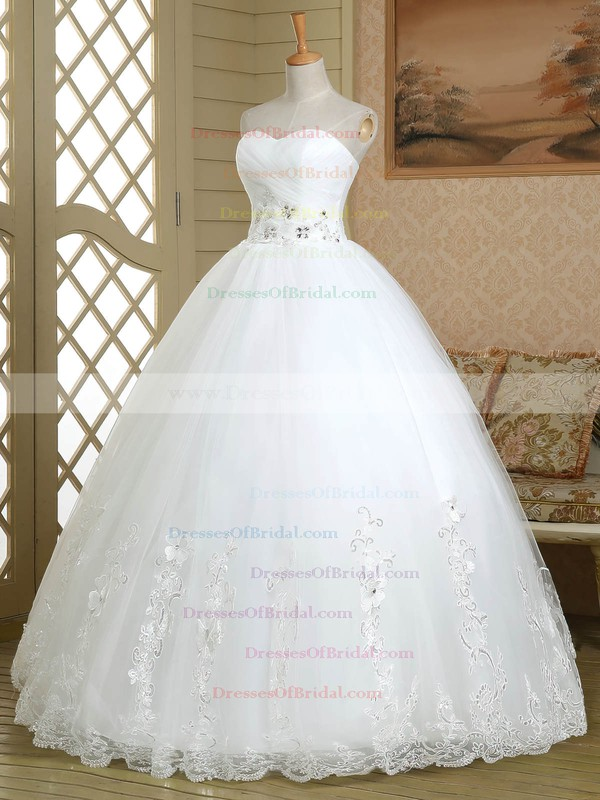 Ball Gown Sweetheart Tulle with Beading Floor-length Lace-up Graceful Wedding Dresses #DOB00022579