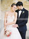 Wholesale A-line Sweetheart Tulle with Bow Sweep Train Wedding Dresses #DOB00022600