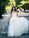 Sweetheart Tulle Sashes / Ribbons Floor-length Newest Princess Wedding Dresses #DOB00022602
