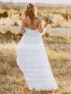 Affordable A-line Sweetheart Tulle with Sashes / Ribbons Floor-length Wedding Dresses #DOB00022620