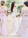 New Off-the-shoulder Tulle Appliques Lace Sweep Train Long Sleeve Trumpet/Mermaid Wedding Dresses #DOB00022642