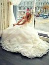 Princess V-neck Organza with Sashes / Ribbons Court Train Different Wedding Dresses #DOB00022683