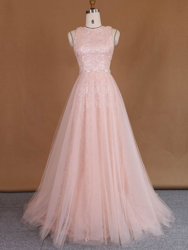 Scoop Neck Sheath/Column Lace Tulle with Sequins Detachable Wholesale Wedding Dresses #DOB00022729