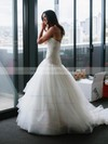 Trumpet/Mermaid Sweetheart Tulle with Lace Court Train Fashion Wedding Dresses #DOB00022744
