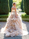 Glamorous Sweetheart Tulle with Cascading Ruffles Court Train Princess Wedding Dresses #DOB00022747