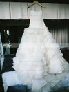 Amazing Strapless Princess Tulle with Cascading Ruffles Court Train Wedding Dresses #DOB00022755