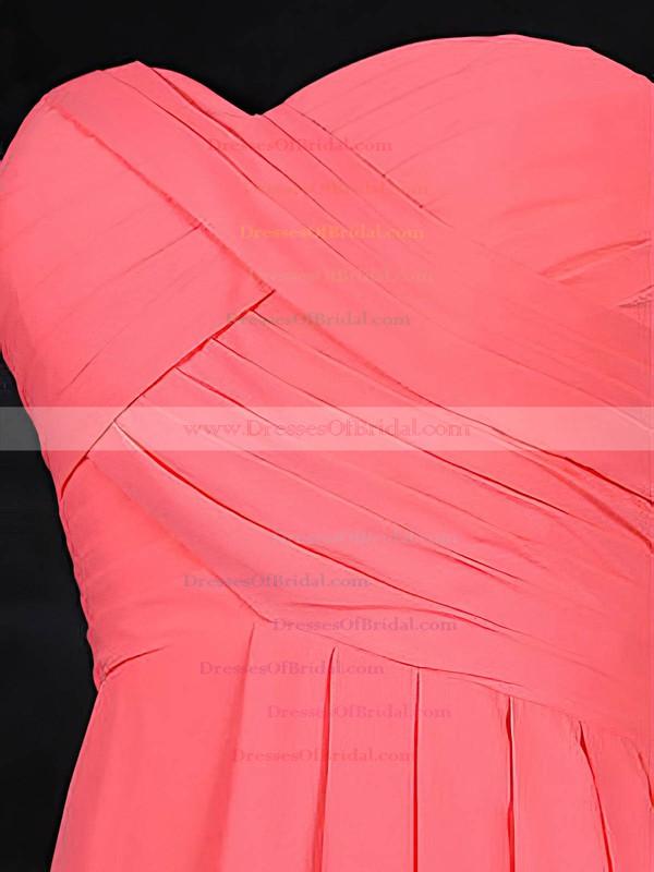 Chiffon A-line Sweetheart Short/Mini with Ruffles Bridesmaid Dresses #DOB01013117