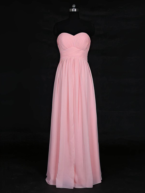 Chiffon Empire Sweetheart Floor-length with Ruffles Bridesmaid Dresses #DOB01013121