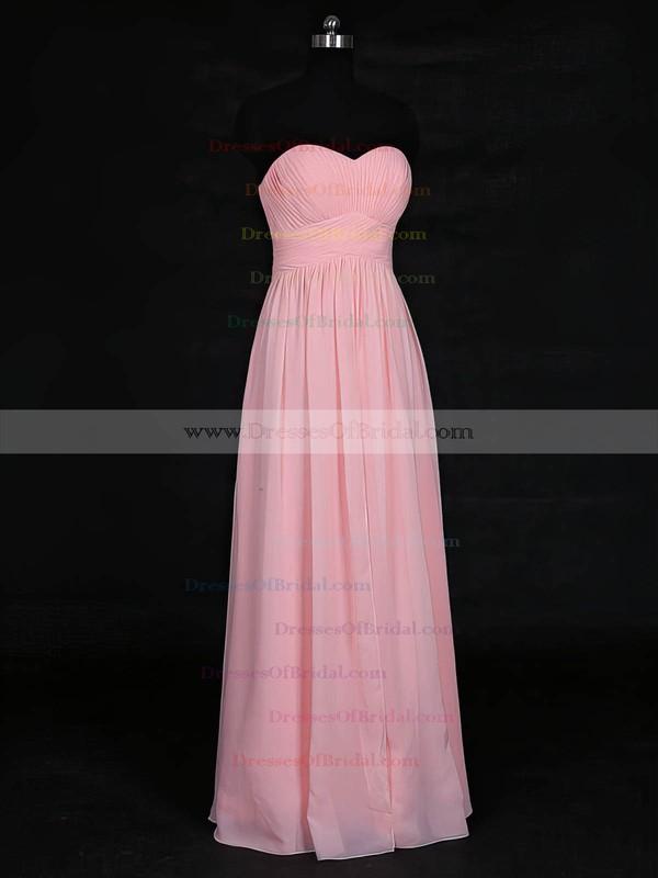 Chiffon Empire Sweetheart Floor-length with Ruffles Bridesmaid Dresses #DOB01013121