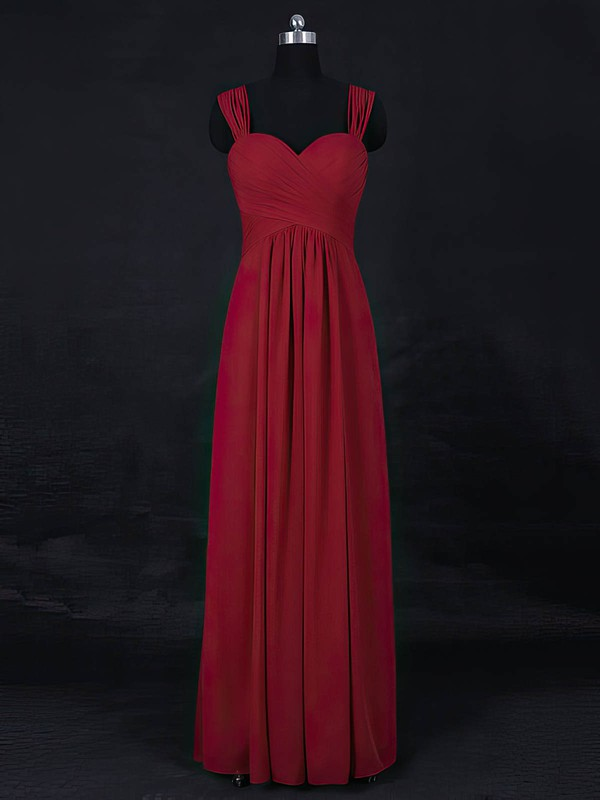 Chiffon Empire Sweetheart Floor-length with Ruffles Bridesmaid Dresses #DOB01013122
