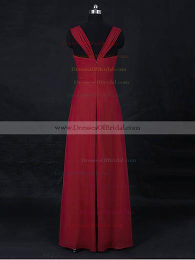 Chiffon Empire Sweetheart Floor-length with Ruffles Bridesmaid Dresses #DOB01013122