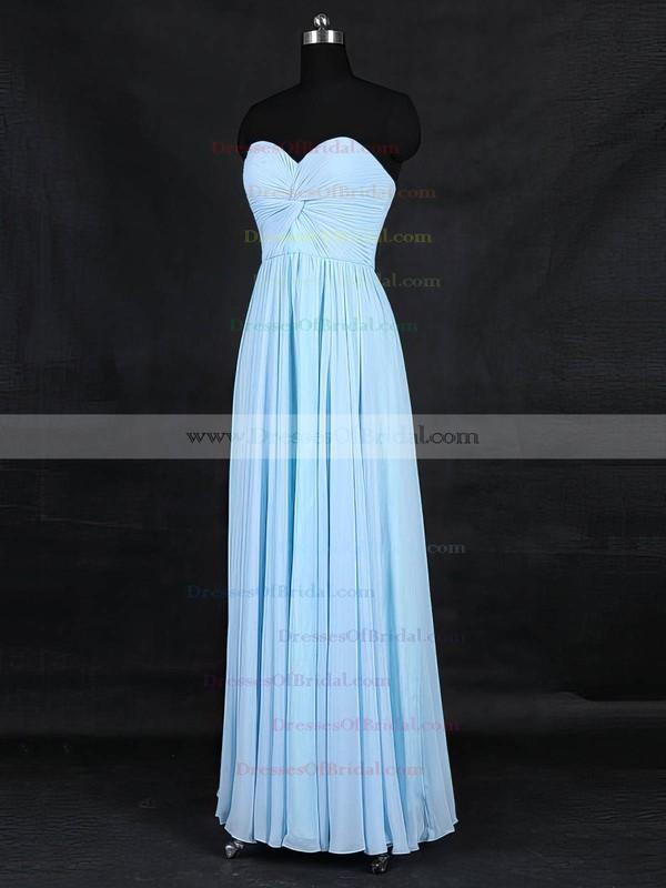 Chiffon A-line Sweetheart Floor-length with Criss Cross Bridesmaid Dresses #DOB01013126