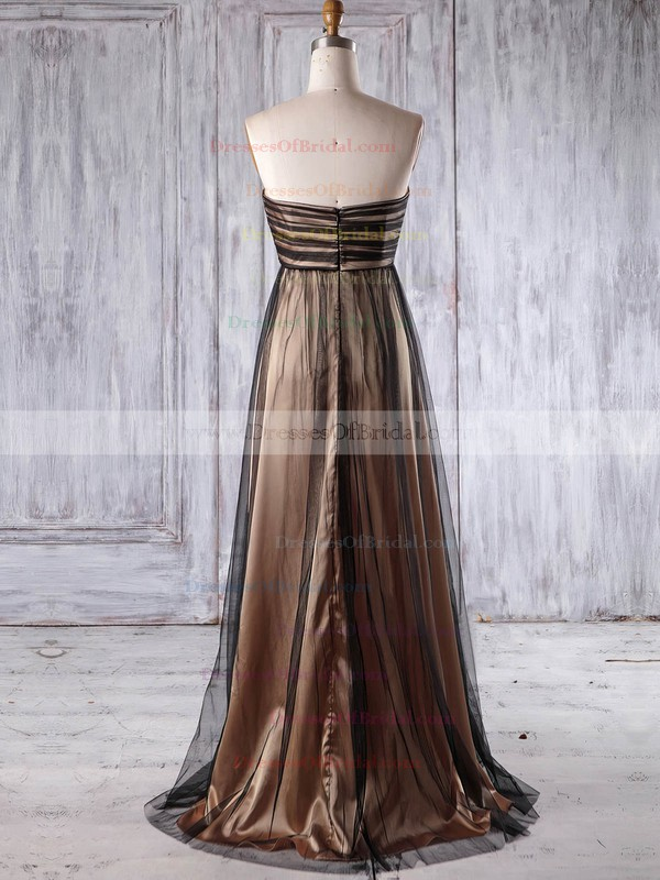 Tulle Empire Sweetheart Floor-length with Appliques Lace Bridesmaid Dresses #DOB01013177