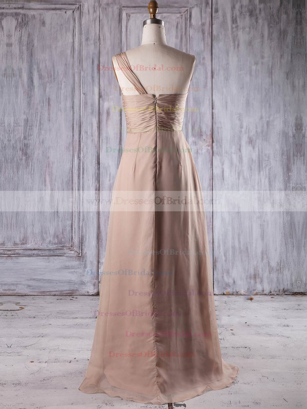 Chiffon A-line One Shoulder Floor-length with Ruffles Bridesmaid Dresses #DOB01013199
