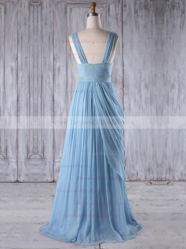 Chiffon A-line Sweetheart Floor-length with Ruffles Bridesmaid Dresses #DOB01013237