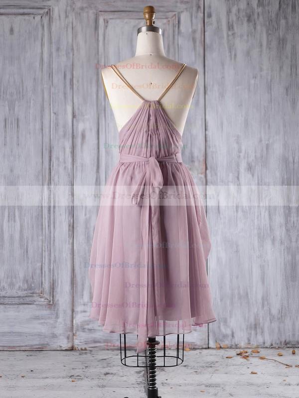 Chiffon A-line V-neck Short/Mini with Sashes / Ribbons Bridesmaid Dresses #DOB01013242