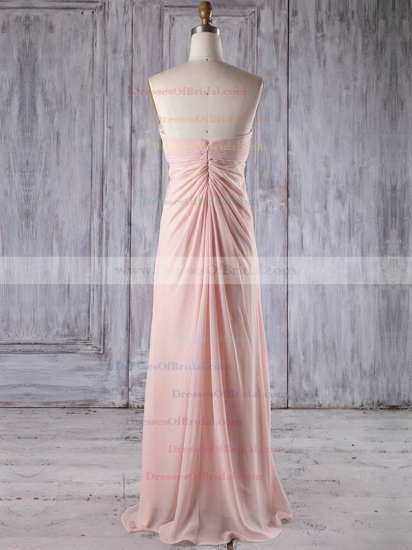 Chiffon Empire Sweetheart Floor-length with Appliques Lace Bridesmaid Dresses #DOB01013252
