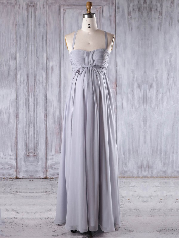 Chiffon Empire Sweetheart Floor-length with Ruffles Bridesmaid Dresses #DOB01013258