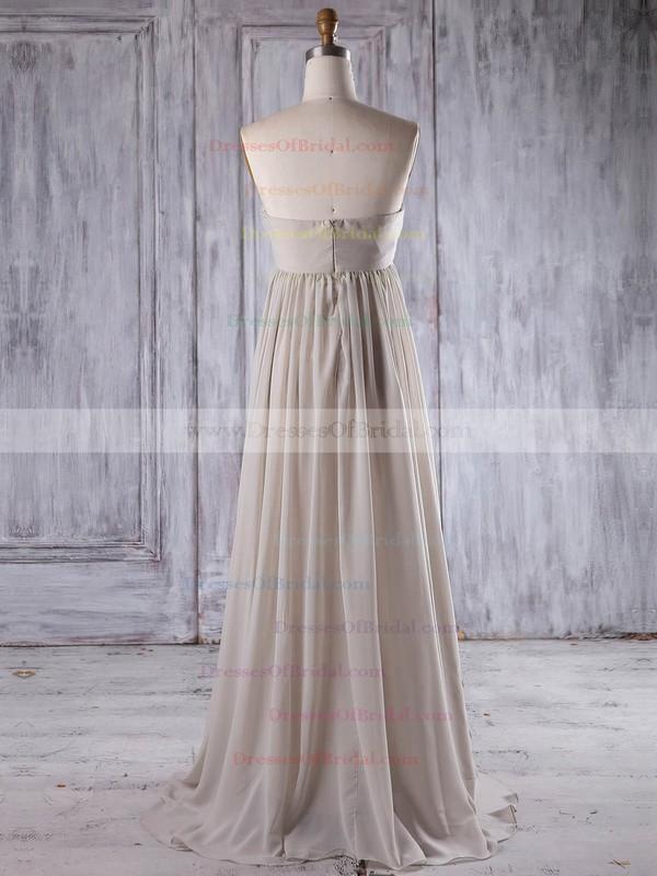 Chiffon Empire Sweetheart Floor-length with Flower(s) Bridesmaid Dresses #DOB01013261