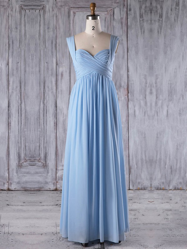 Chiffon A-line One Shoulder Floor-length with Ruffles Bridesmaid Dresses #DOB01013266
